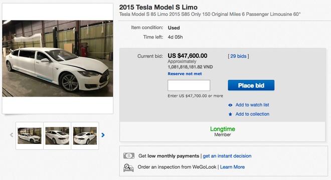 Tesla Model S do limousine dau tien tren the gioi hinh anh 2