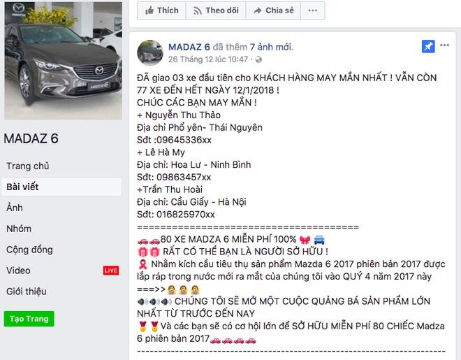 Hang chuc nghin nguoi bi lua boi fanpage 'tang Mazda6' hinh anh