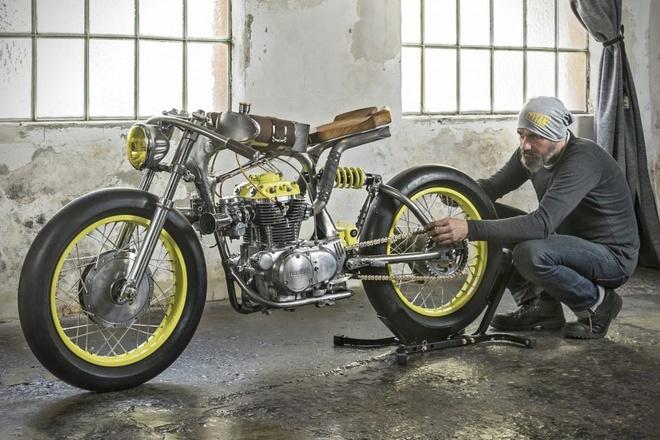 Anh Honda CB350 'One': Ban do ton ve dep co khi hinh anh