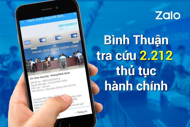 Nguoi dan Binh Thuan nhan ket qua dang ky ket hon qua Zalo hinh anh