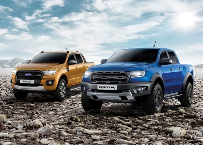 Ford Ranger 2019 gia tu 17.640 USD tai Thai Lan hinh anh