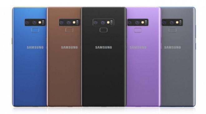 Samsung Galaxy Note 9 lo dien 5 mau moi hinh anh