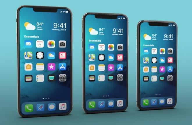 So sanh mo hinh 3D cua iPhone 2018 voi iPhone X va iPhone 6 hinh anh