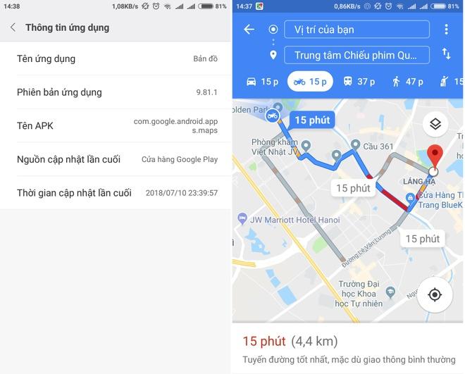 Ứng dụng Google Maps vừa bổ sung tính năng chỉ đường cho xe máy.