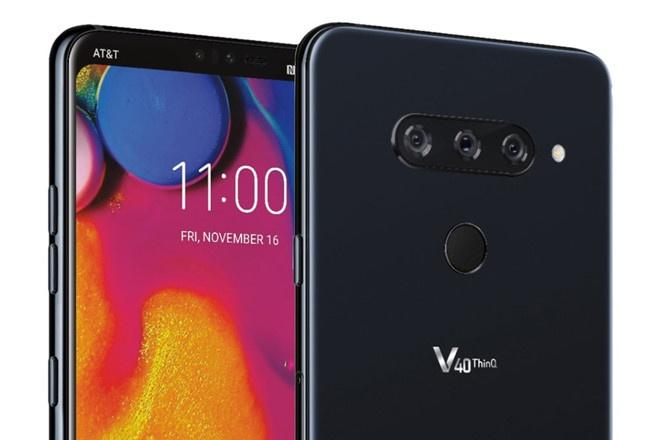 LG V40 ThinQ lo dien voi 5 camera hinh anh