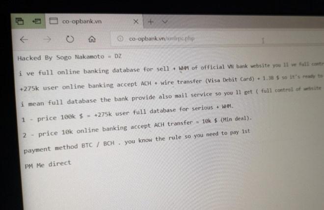 Website ngan hang HTX Viet Nam bi hack, khach hang can lam gi? hinh anh 1