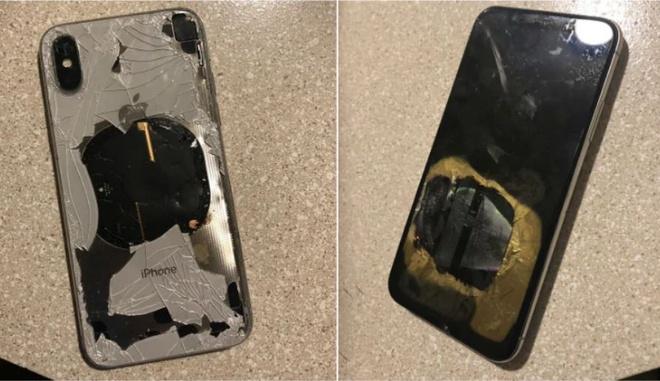 iPhone X phat no sau khi nang cap iOS 12.1 hinh anh