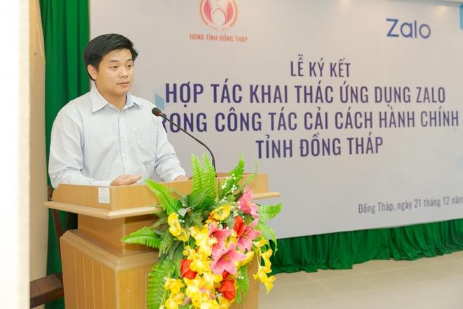 Dong Thap ung dung Zalo lam nen tang cho dich vu cong truc tuyen hinh anh 2