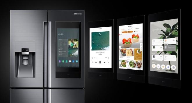 Samsung nang cap tu lanh Family Hub, tich hop Bixby hinh anh
