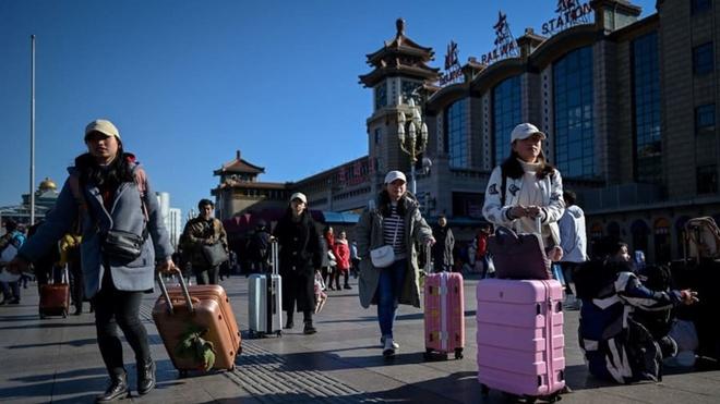 Ước tính, có 3 tỷ chuyến đi diễn ra trong 40 ngày dịp Tết Nguyên đán tại Trung Quốc. Ảnh: AFP.