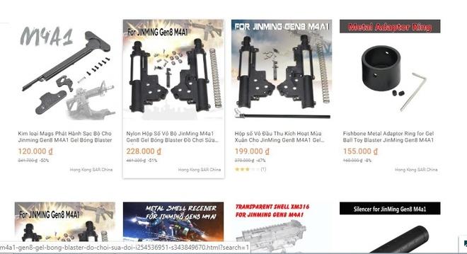 Thiết bị lắp ráp súng thể thao mạo hiểm rao bán từ Hồng Kông trên Lazada.