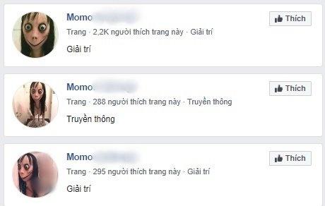 Facebook tran ngap cac nhom co vu cho nhan vat kinh di Momo hinh anh 2