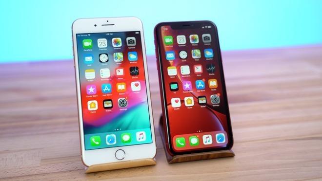 Giá bán hiện tại của iPhone XR thấp hơn so với mẫu 8 Plus 2 năm tuổi. Ảnh: AppleInsider.