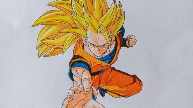 Ve Son Goku Super Saiyan 3 bang Paint nhu that hinh anh