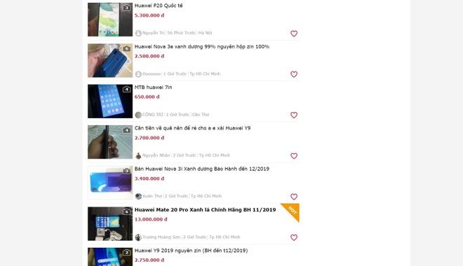 Bị cấm vận ở Mỹ, điện thoại Huawei mua ít, bán nhiều tại