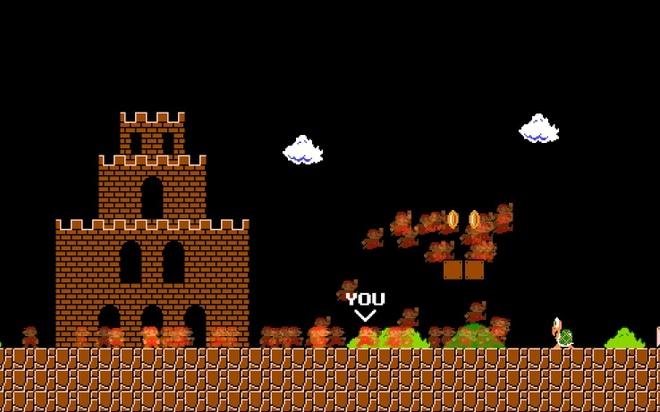 Choi thu tua game Super Mario theo phong cach battle royale hinh anh