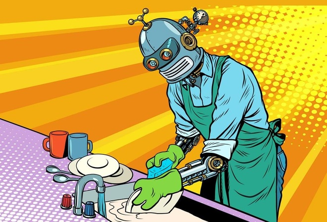 Robot rua bat tich hop AI nay la mo uoc cua moi ba noi tro hinh anh