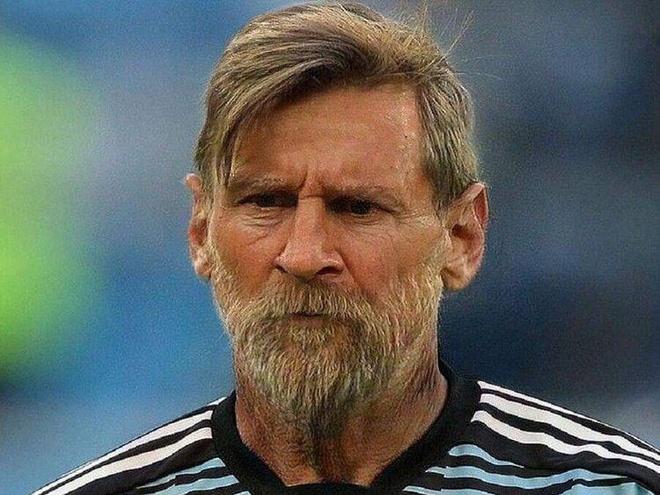 Hình ảnh của Messi được chỉnh sửa từ ứng dụng FaceApp. Ảnh: TechCrunch.