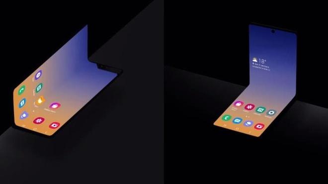 Samsung khoe smartphone man hinh gap moi hinh anh