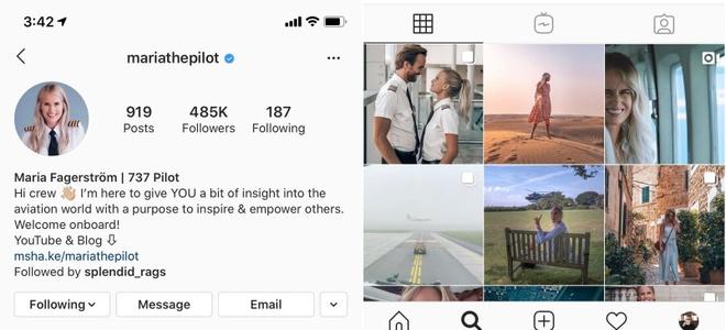 nu phi cong xinh dep co 500.000 nguoi theo doi tren Instagram anh 2