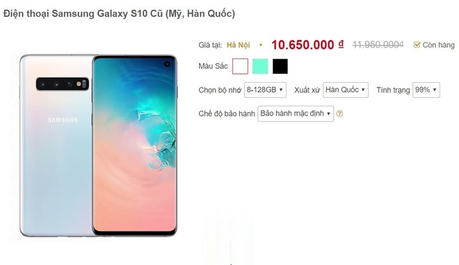 Galaxy S10 giam gia anh 1