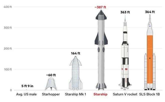 Bản vẽ nguyên mẫu Starship mới đang được phát triển. Ảnh: Business Insider.