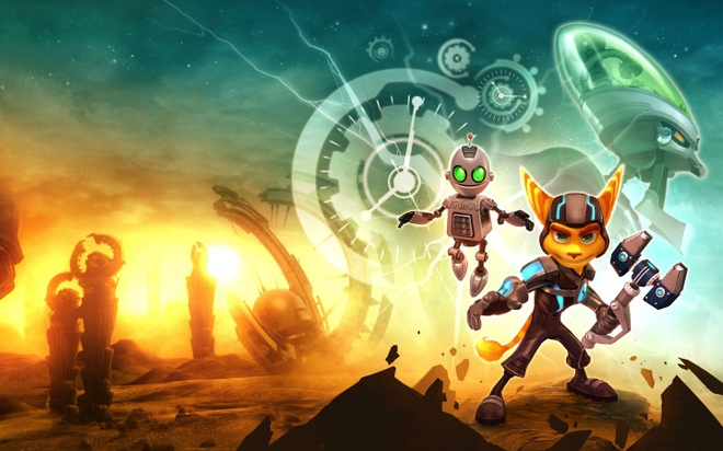 10 tua game danh cho gia dinh cung choi trong ngay Tet hinh anh 10 05_Ratchet_Clank_Ratchet_Clank_WALLHERE.jpg