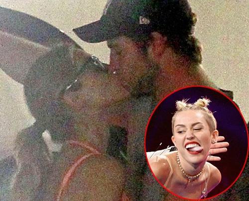 Liam hon bo moi ngay sau khi chia tay Miley hinh anh