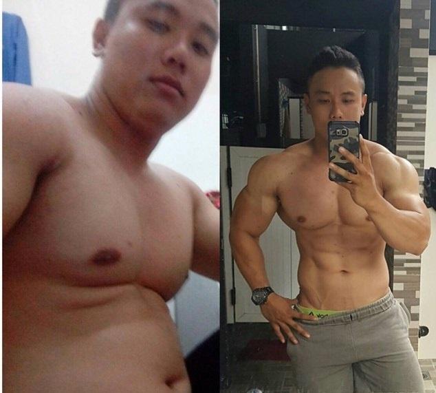 Chang trai nang 105 kg van so huu co bung 6 mui hinh anh 1