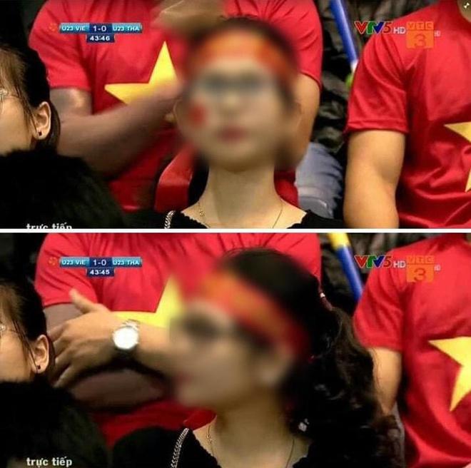 Lo 'len song' khi di xem U23, co gai bi dan mang binh luan nhan sac hinh anh 1