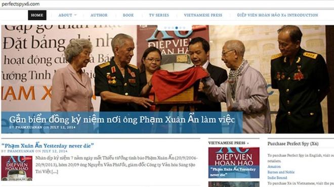 Ra mat trang web ve tuong tinh bao huyen thoai Pham Xuan An hinh anh
