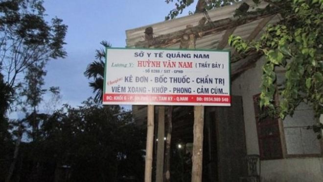Thay boi chua benh bang... sex hinh anh 1 Thầy Nam chỉ được cấp phép hành nghề chữa một số bệnh viêm xoang, khớp.