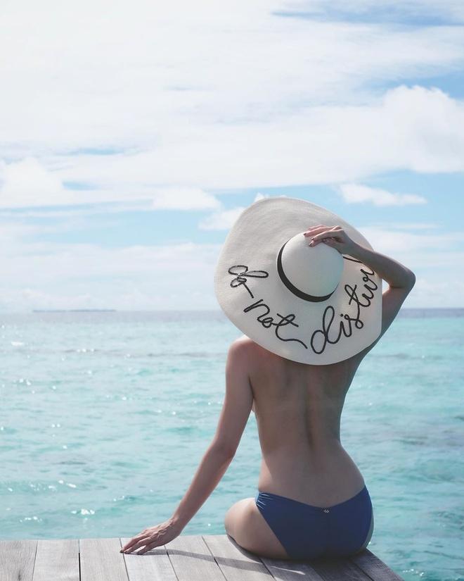 Anh hau TVB chup anh ban nude o Maldives hinh anh 1