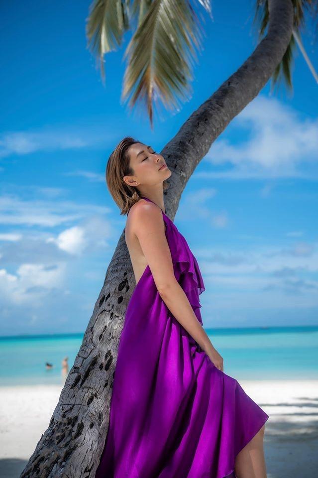 Anh hau TVB chup anh ban nude o Maldives hinh anh 2