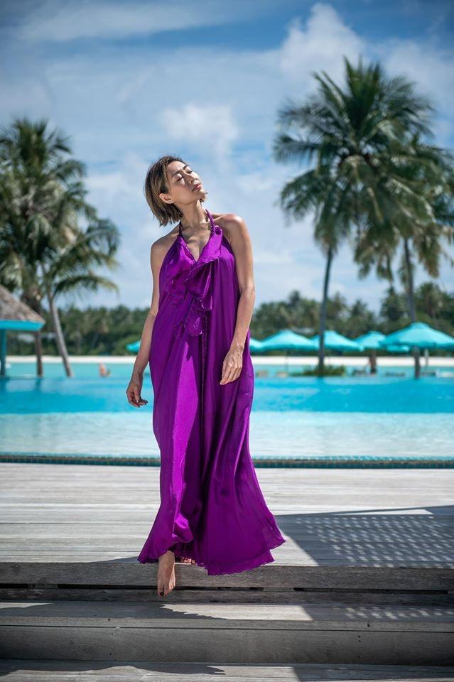Anh hau TVB chup anh ban nude o Maldives hinh anh 3