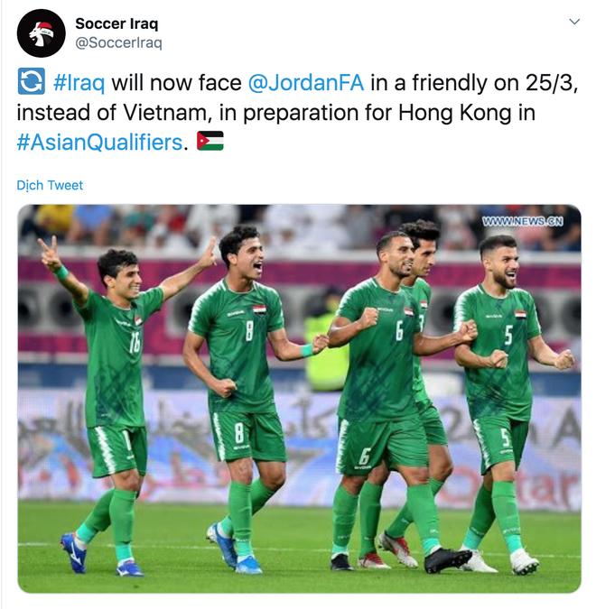 Tuyen Iraq se dau giao huu voi Jordan thay vi Viet Nam hinh anh 1 chup.jpeg