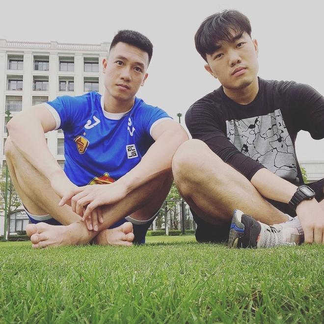 Xuan Truong, Huy Hung tap luyen o PVF hinh anh 1 hung.jpg