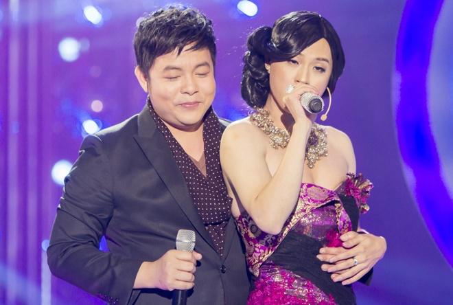 Thanh Duy thay Le Quyen lam nguoi tinh san khau cua Quang Le hinh anh