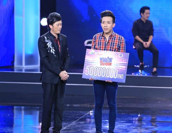 Kết thúc 5 thử thách, Hoài Linh thừa nhận sự xuất sắc của Trấn Thành vì anh ứng biến thông minh, tài tình qua các tình huống. MC nổi tiếng nhận số tiền thưởng 50 triệu đồng và ủng hộ các nghệ sĩ nghèo: Hoàng Lan, Mạc Can, Tùng Lâm.