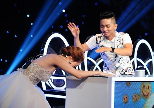 Minh Hang dap dau xuong ban vi thua Thuy Tien hinh anh