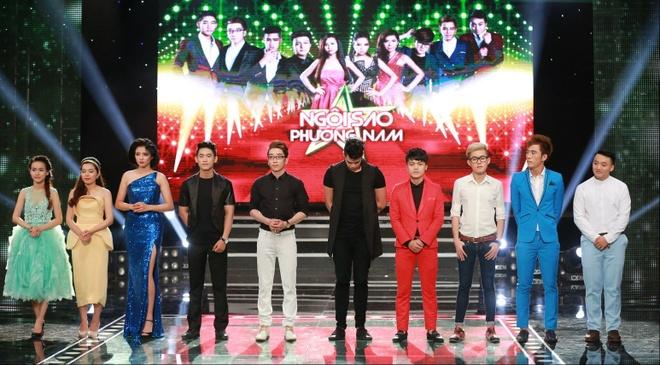Khong Tu Quynh den truong quay tham Ngo Kien Huy hinh anh 10 Sẽ có 2 thí sinh bị loại trong đêm thi này.