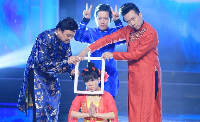 Viet Huong 'vai lay' Tran Thanh, Truong Giang xin tai gia hinh anh