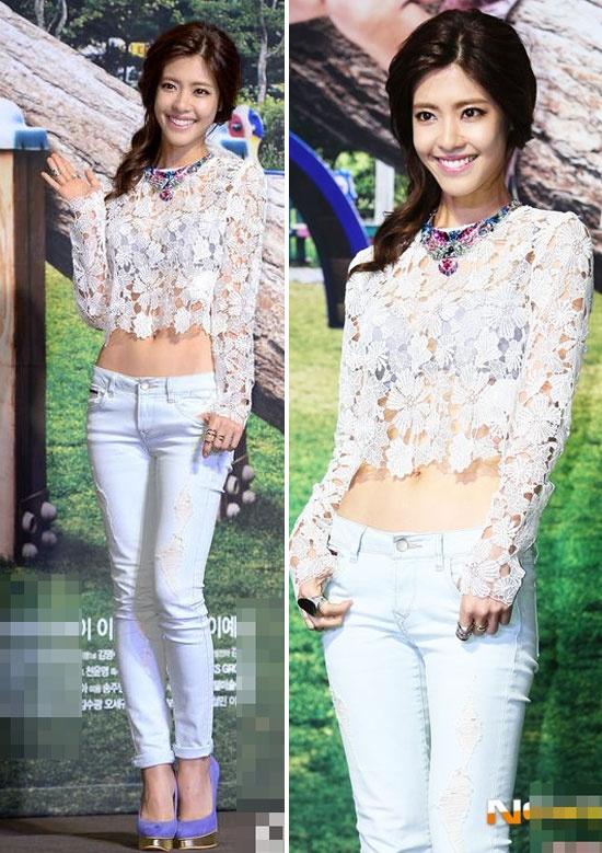 Me man voi vong eo con kien cua my nhan Han hinh anh 6 Vẻ đẹp gợi cảm và quyến rũ của Lee Yoon Ji trong áo lửng xuyên thấu.
