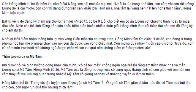Be 9 tuoi Hong Minh dang quang Giong hat Viet nhi 2015 hinh anh 7