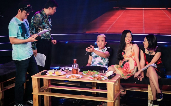 Tran Thanh ngu trong canh ga, Thu Trang tranh thu an lot da hinh anh 6