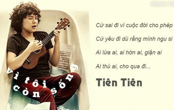 'Vi toi con song' cua Tien Tien oanh tac tren BXH Zing hinh anh