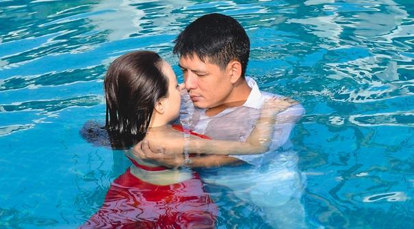 Binh Minh, Dinh Ngoc Diep trong hau truong phim hinh anh