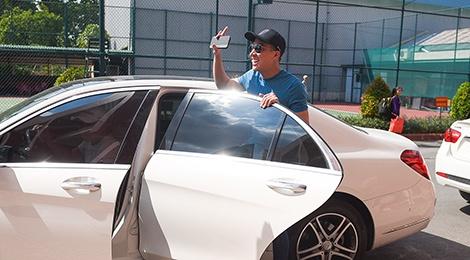 Tran Thanh di xe sang tap Zing Music Awards hinh anh