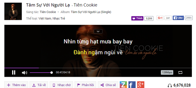 Hit moi cua Bao Thy canh tranh Tien Cookie tren BXH Zing hinh anh 1