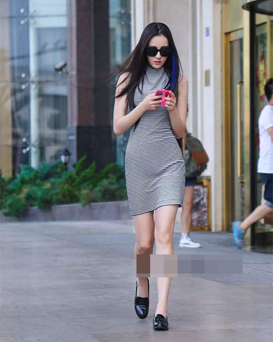 Street style an tuong cua Dich Le Nhiet Ba hinh anh 6